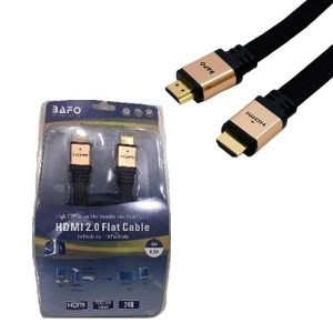 HDMI cable Flat (Mesh/Metal)Gold 3m